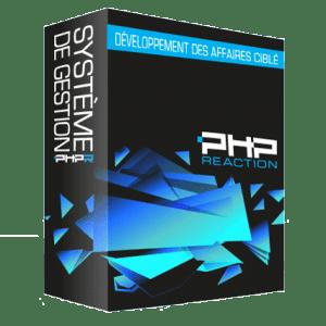 PHPReaction - Application Web - Système de Gestion d'entreprise - Boitier - Développement des affaires ciblé