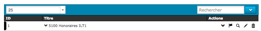 visuel d'un ajout de numéro comptable à un type de ligne